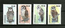 Zimbabwe - 1999 - Scott #820-823 - Mint Never Hinged - Owls