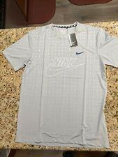 Us Large Nike Dri Fit Shirt (Light Grey / Gray Color )
