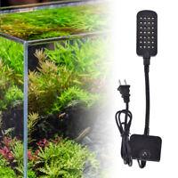 28 LED Aquarium Fish Tank Clamp Clip Lamp Light White & Blue Color Lighting 5HUK