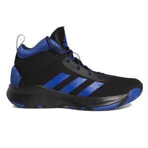Adidas Kids Cross Em Up 5 Black/Collegiate Royal/Black Basketball Shoes FV742...