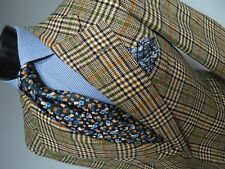 Vintage Gentree DAKS London hand finished tweed plaid sport coat 40 R