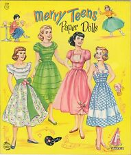 Vntg 1950s Merry Teens Paper Doll Laser Reproductin~Org Sz Unct Free Sh No1 Selr