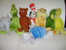 LOT OF 8 DR. SEUSS KOHL'S CARES FOR KIDS PLUSH TOY STUFFED CAT LORAX DOG GRINCH