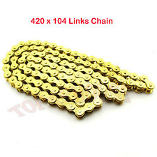 420 x 104 Links Gold Chain For XR50 CRF50 CRF70 SSR 110 125 cc Pit Dirt Bike ATV