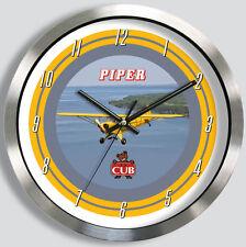 PIPER J-3 CUB METAL WALL CLOCK J3