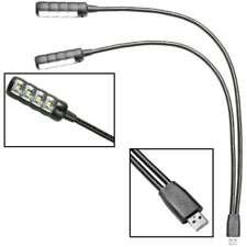 Ultrahelle zweiarm USB LED Schwanenhalslampe Lampe Leselampe Leuchte Flexilight
