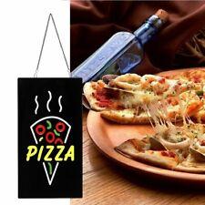 42x22cm Pizzeria Pizza Led Hanging Sign Light Board Window Door Display Dec