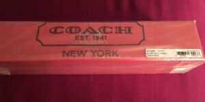 Coach Signature C Umbrella - New in Gift Box LIGHT KHAKI / CORAL STYLE 65556B