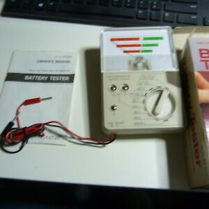 Vintage Micronta Battery Tester 22-032A With Original Box