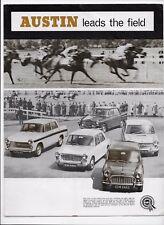 1967 Austin car brochure: Mini, A40, 1100, A60 Cambridge, 1800, A110 Westminster