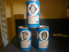 Baseball Bert Campaneris Joe Rudi Jose Cardenal 1977 RC Cola Steel Cans empty