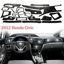 5D Carbon Fiber Pattern Car Interior DIY Trim Sticker for 2012 Honda Civic Sedan