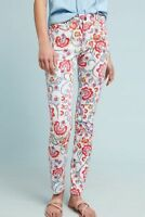 ANTHROPOLOGIE Pilcro Mid Rise Floral Skinny Ankle Jeans NwT 26 27 28 2 4 6