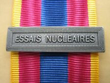 Agrafe  ESSAIS NUCLEAIRES  pour la Médaille Défense Nationale