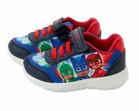 Boys PJ Masks Trainers Infant Canvas Touch Fasten Laces Shoes UK Sizes 5-10