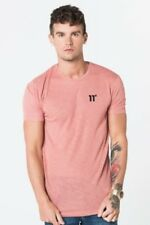 11 Degrees Composite Short Sleeve Pink and Black Knit XL Td085 HH 18