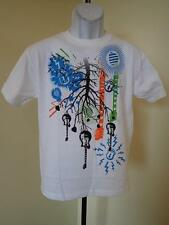NEW  Novelty Graphic  Guitar YOUTH size XLARGE (18) white short-sleeve T-shirt