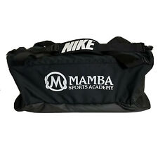 Nike Kobe Bryant Basketball Duffle Bag Black White Mamba Sports Academy NWT RARE