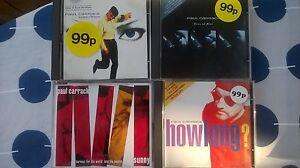4 x Paul Carrack CDs Single collection how long eyes of blue sunny 17 tracks!