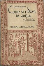 Pini - Come si rideva in antico - Hoepli Prima edizione 1932 - Umorismo