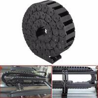 1M Nylon Cable Towline Chain Drag Carrier Wire Bridge For CNC Machine 15x30mm