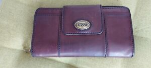 Fossil leather purse wallet