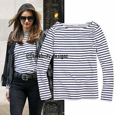 Long Sleeve Machine Washable Casual Striped Tops & Blouses for Women