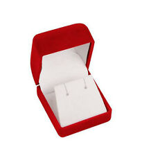 "24 PCS CLASSIC VELOUR EARRING BOX, RED RING BOX 1 3/4"" X 1 7/8"" X 1 1/2"""
