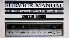 Sansui 5000X stéréo tuner service amp manuel inc scm sanhq imprimé bound anglais