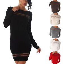 Transparente Clubwear-Langarm Damenkleider