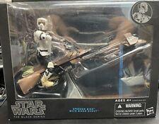 "Star Wars Black Series 6"" Speeder Bike w/ Biker Scout Trooper Action Figure"