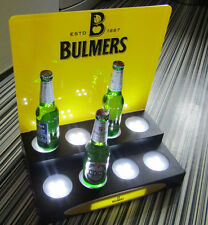 5 difrnt Logos 2 Tier LED ILLUMINATED BAR SIGN DISPLAY Stand 8 BOTTLE GLORIFIER