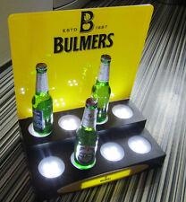 5 difrnt Logos 2 Tier LED ILLUMINATED BAR SIGN DISPLAY Stand 8 BOTTLE GLORIFIER