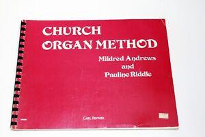 Vintage Sheet Music Book Church Organ Method Mildred Andrews Pauline Riddle