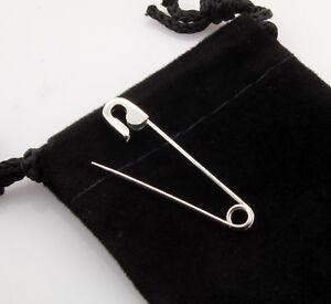Platinum Safety Pin 1.25'' long Handmade in USA