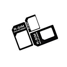 R-SIM SCHWARZ 4i1 MULTiNANO SIM ADAPTER MICRO SIM ADAPTER SIMKARTEN O2 SIM KARTE