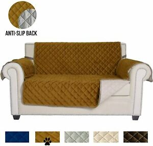 QUILTED PET DOG COUCH SOFA LOVESEAT PROTECTOR SLIPCOVER  STRAP & POCKET STORAGE