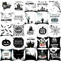 18'' Halloween Ghost Witch Pumpkin Cushion Cover Skull throw Pillow Case Decor