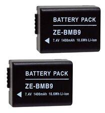 2x DMW-BMB9 DMW-BMB9E DMW-BMB9PP Batteries for Panasonic FZ40 FZ45 FZ47 FZ100