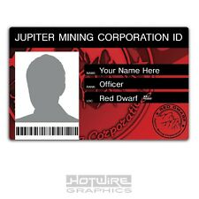 PERSONALISED Printed Novelty ID- RED DWARF Jupiter Mining Corp Card FILM & TV