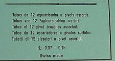 Asst. of 12 Swiss Pivot Broaches