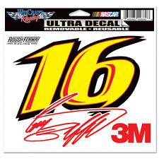 "GREG BIFFLE #16 3M RACING 6"" X 4"" NASCAR ULTRA DECAL"