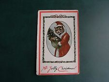 ORIGINAL RARE LOUIS WAIN SANTA CLAUS CAT POSTCARD - MAX ETTLINGER & Co. LTD.