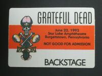 Grateful Dead Backstage Pass Star Lake Amphitheater, Burgettstown PA (6/22/92)