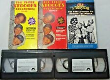 """Lot of 5 """"The Three Stooges"""" VHS Original TV Series Black & White Collection"""