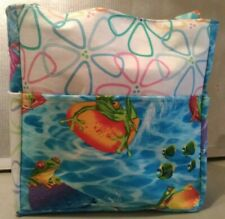 frogs swimming pool floats vacation relax outdoor purse project bag handmade