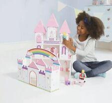 Princess Castle Wooden Play Doll House Children Kids Pink Dollhouse Girls