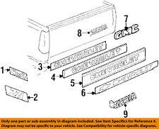 "1992-1998 GMC SIERRA ""GMC TRUCK"" TAIL GATE EMBLEM NEW GM # 15675400"