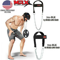 Weight Lifting Head Neck Harness Gym Workout Exercise Training Straps Belt