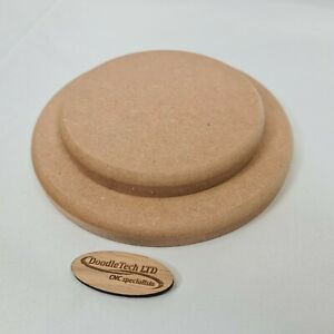 400mm MDF Circle 6mm 12mm 18mm Thick Square / Rounded Edged Wooden Shape Blanks